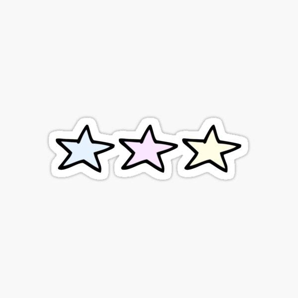 3 Pastel Stars Sticker