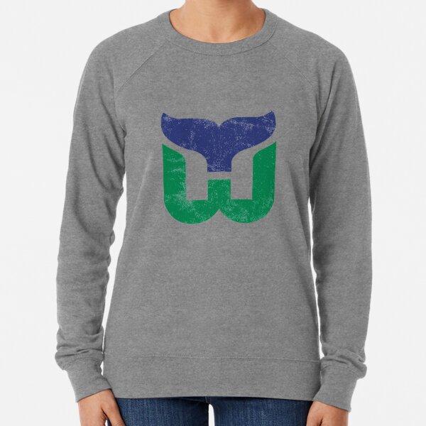 Hartford Whalers Distressed Logo - Defunct Hockey Team - The Whale - Brass Bonanza - Connecticut Hockey Lightweight Sweatshirt