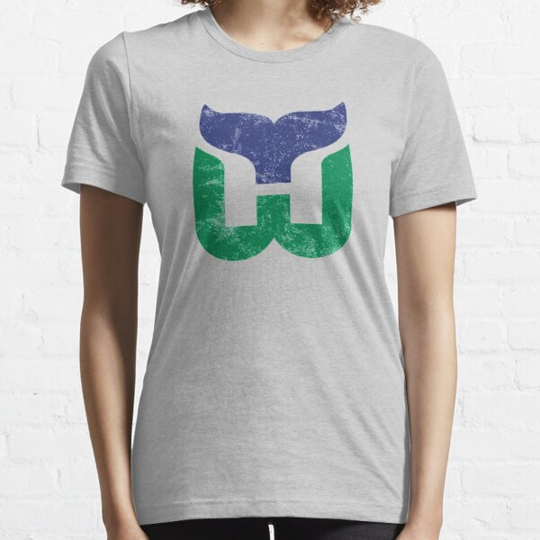 Hartford Whalers Distressed Logo - Defunct Hockey Team - The Whale - Brass Bonanza - Connecticut Hockey Essential T-Shirt