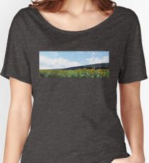A Field of Sunflowers in Pennsylvania Women's Relaxed Fit T-Shirt
