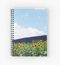 A Field of Sunflowers in Pennsylvania Spiral Notebook