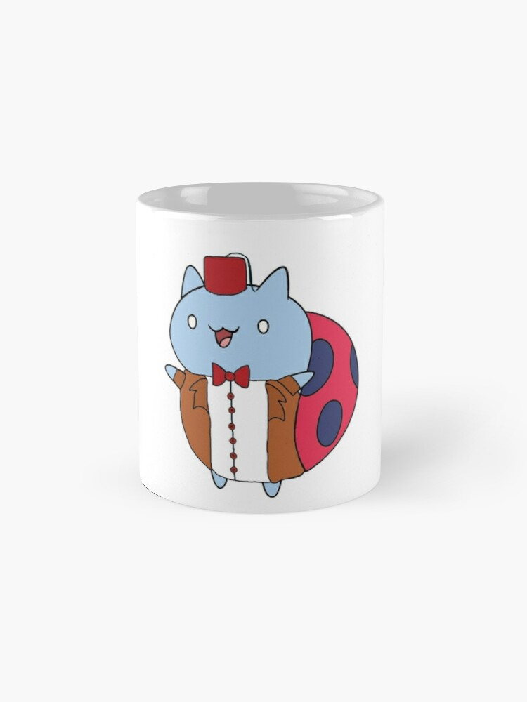 Alternate view of Cat Bug as the 11th Doctor Mug
