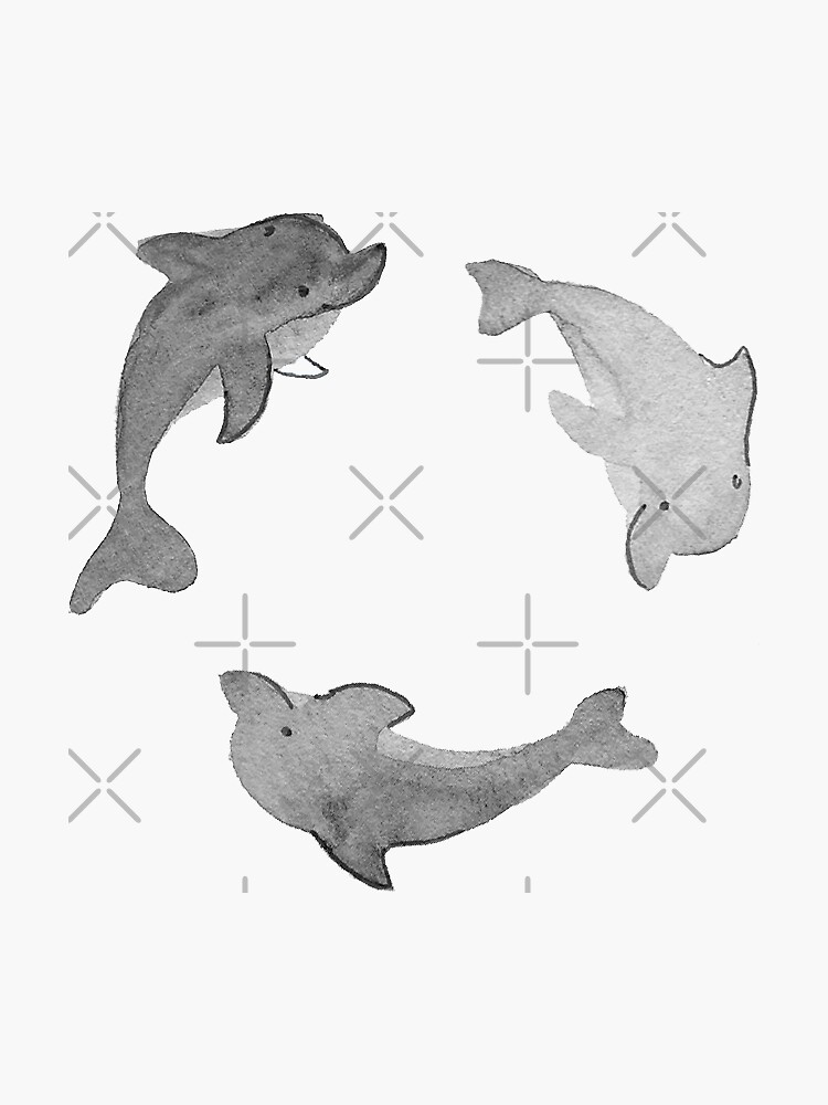 Green Dolphin Stickers and Pattern by annieparsons