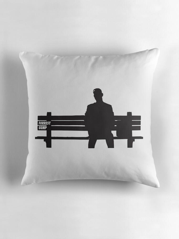 "FORREST GUMP"" Throw Pillows by MDRMDRMDR"