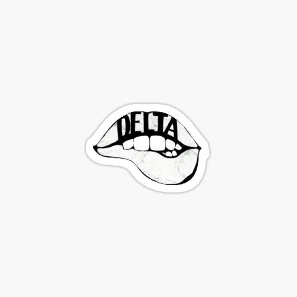 Delta Lips Sticker