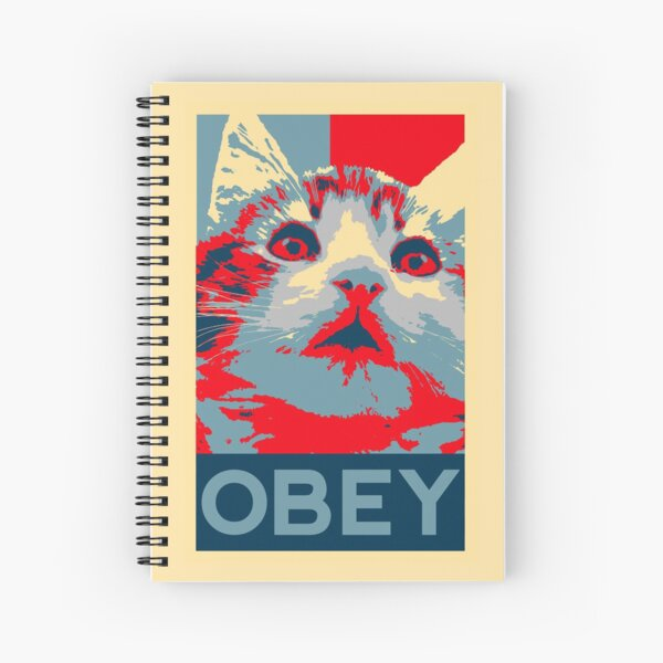 Obey the cat - Spiral Notebook