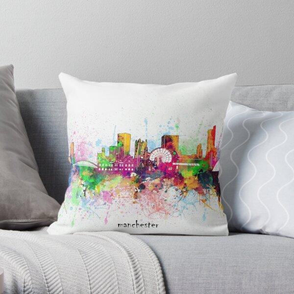 manchester skyline Throw Pillow