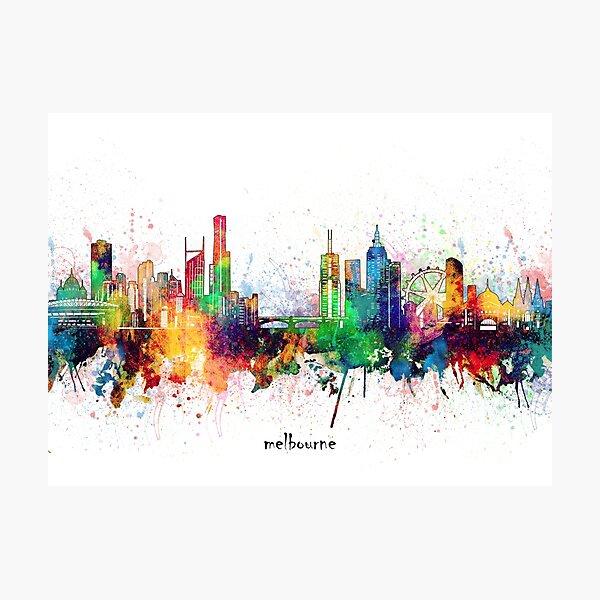 melbourne skyline Photographic Print