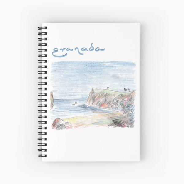 Granada · Blue summer in the secret bay · Spiral Notebook