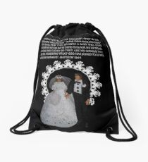 MARRIAGE IS BETWEEN A WOMAN AND A MAN-HUSBAND AND WIFE WITH BIBLICAL SCRIPTURE-PILLOWS-TOTE BAG-JOURNAL-BOOK-ECT.. Drawstring Bag