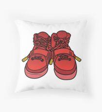 Yeezy Red October Throw Pillow