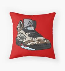 SUPREME CAMO 5s Throw Pillow