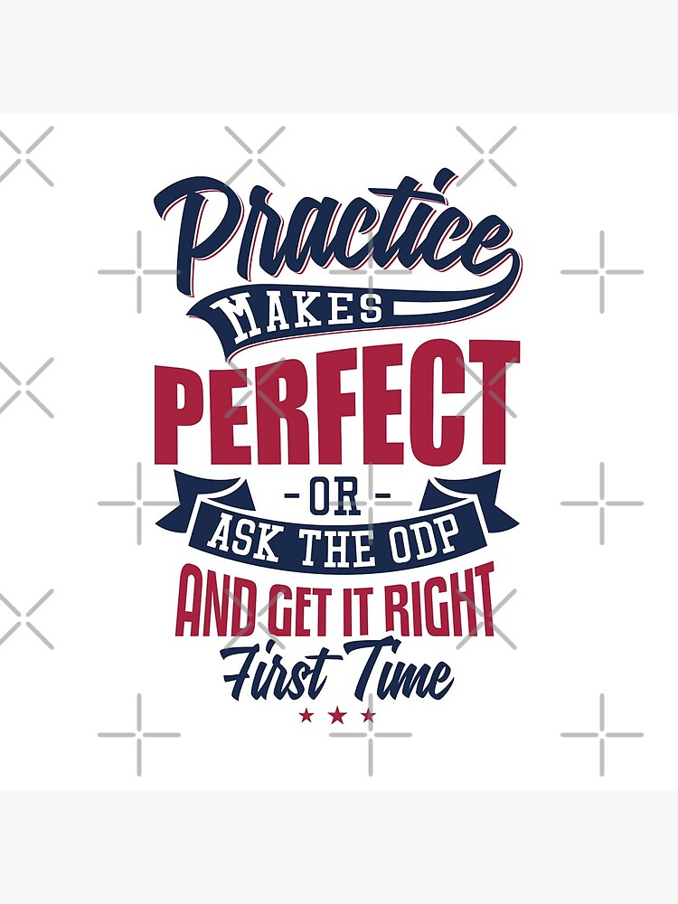 Practice makes Perfect - Or Ask The ODP And Get It Right First Time by snibbo71
