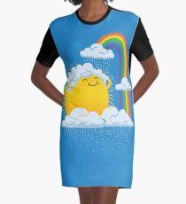 Rainy Day Graphic T-Shirt Dress