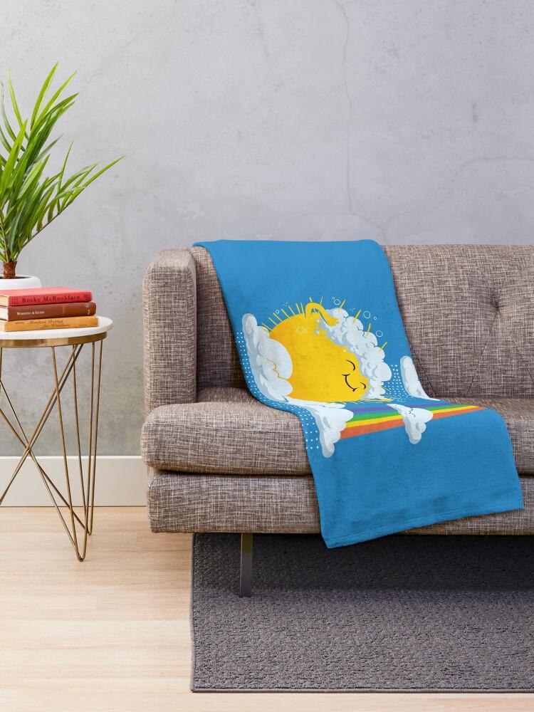 Alternate view of Rainy Day Throw Blanket