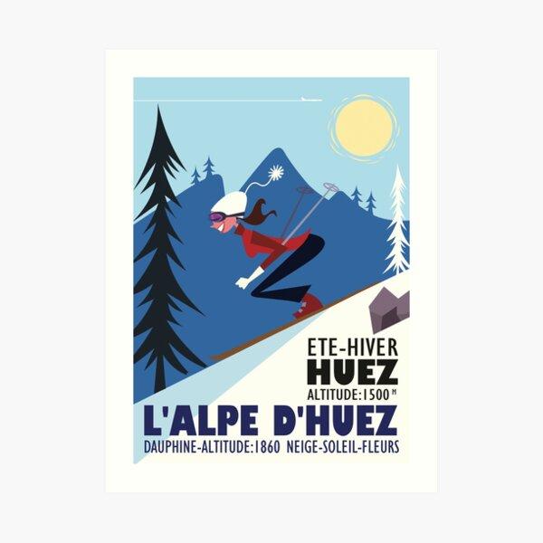 L'Alpe D'Huez poster Art Print
