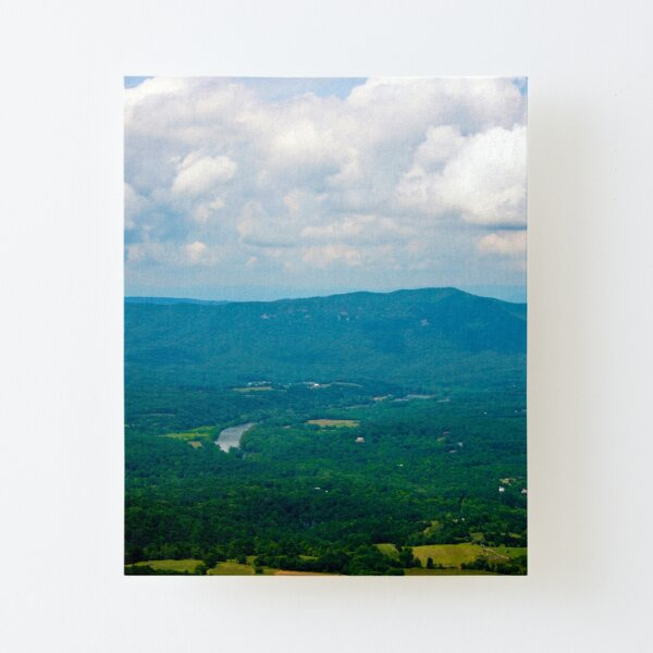 Blue and Green Landscape Photograph of Shenandoah Valley Virginia  Canvas Mounted Print