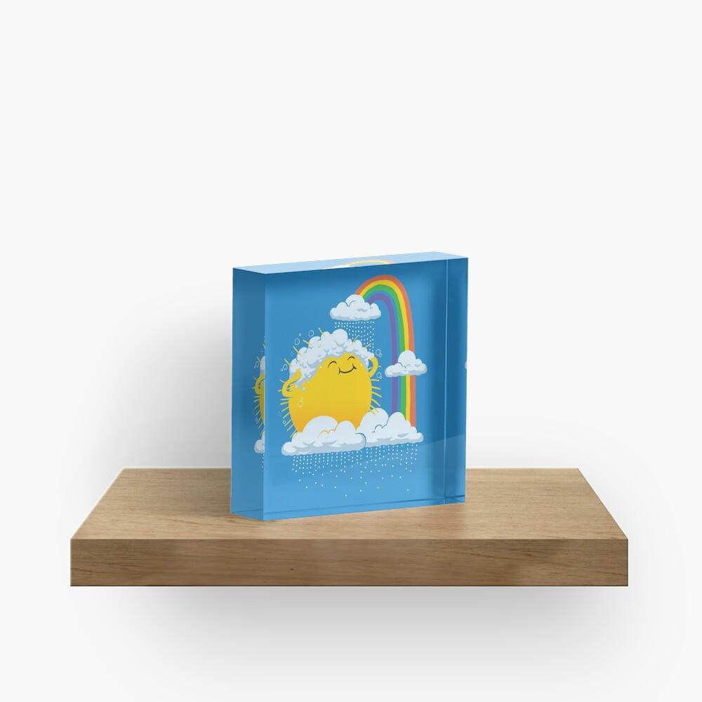 Rainy Day Acrylic Block