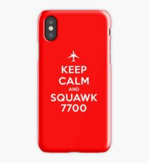 Keep Calm and Squawk 7700 iPhone Case