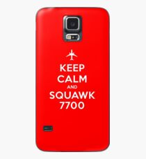 Keep Calm and Squawk 7700 Case/Skin for Samsung Galaxy