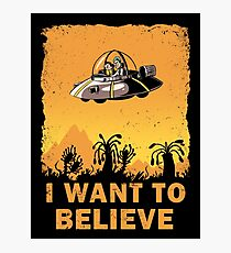 I Want to Believe, Morty Photographic Print