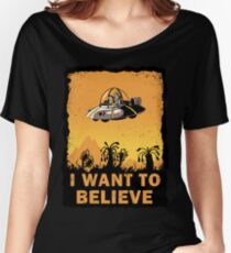I Want to Believe, Morty Women's Relaxed Fit T-Shirt