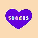 Snacks Retro Lettering by evannave