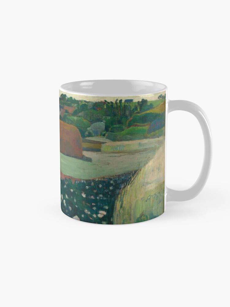 Alternate view of Haystacks in Brittany Oil Painting by Paul Gauguin Mug