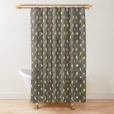 Tiki Birds - Brown Pattern Shower Curtain