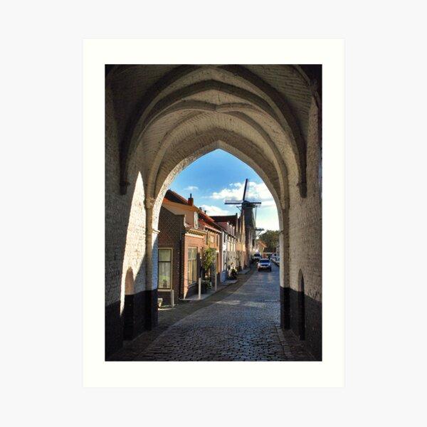 A look through the Nobel Gate Art Print