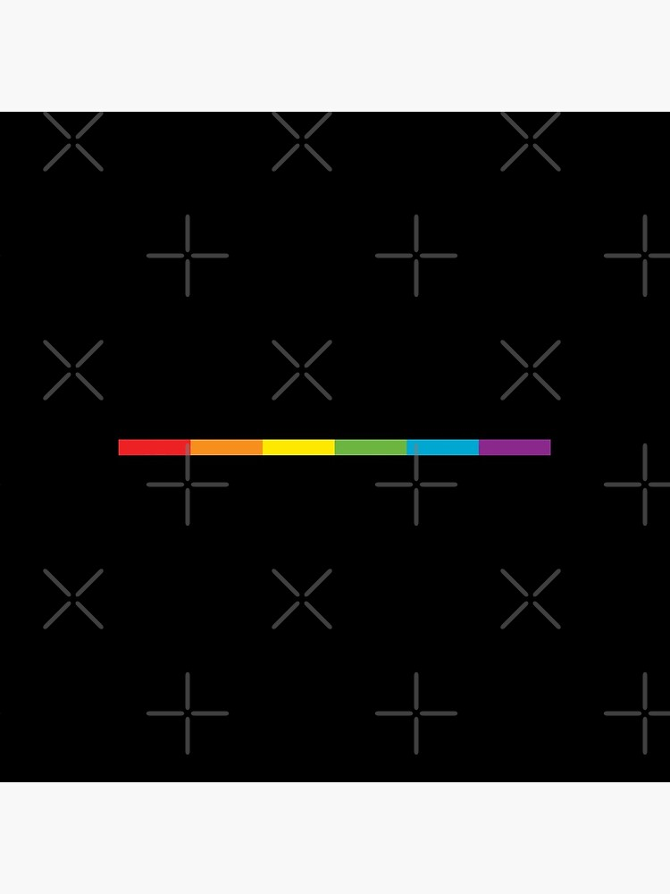 LGBT thin subtle modern rainbow flag on black Gay Lesbian Bisexual Pride  by iresist