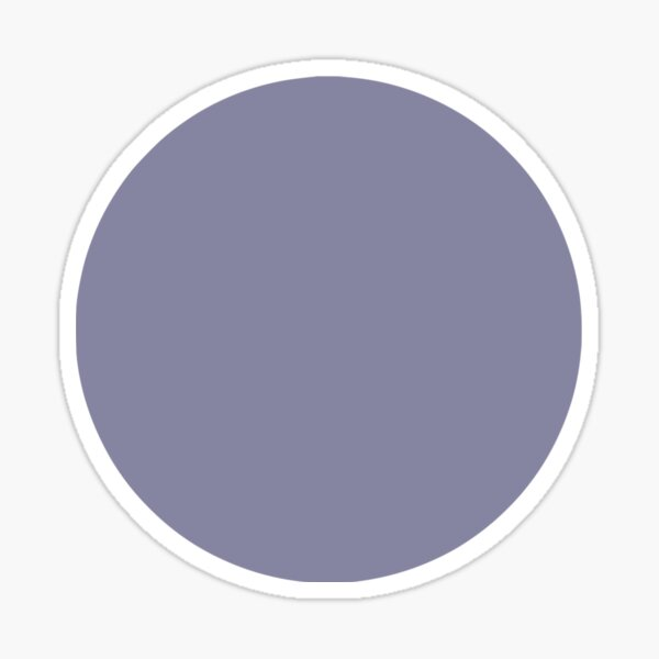 Solid Purple Circle Sticker
