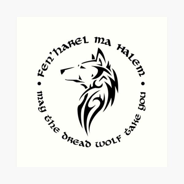 Dread Wolf (black) Art Print