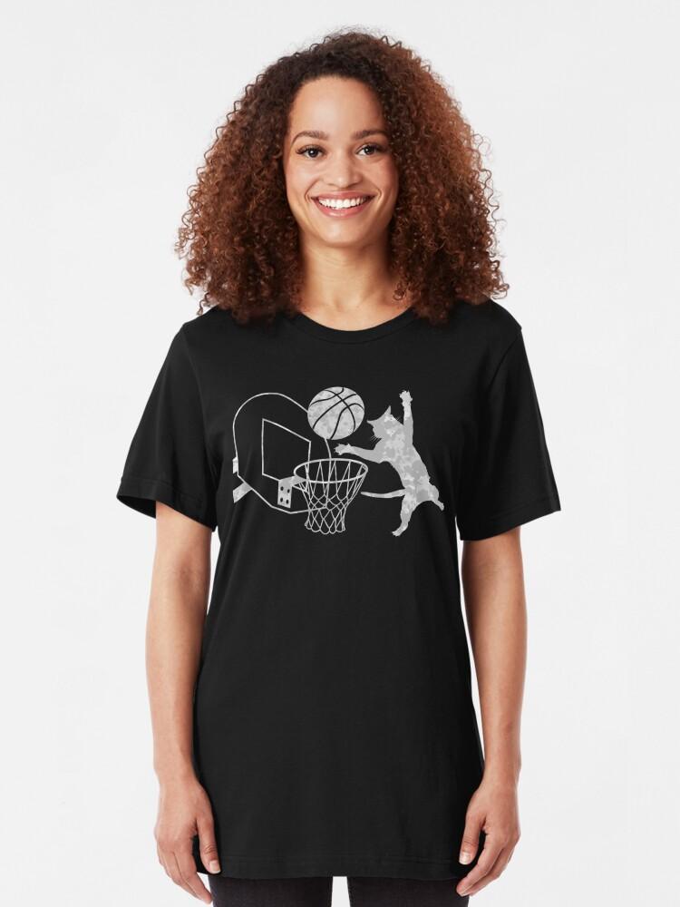 Alternate view of Slam Puss (Grey) Slim Fit T-Shirt