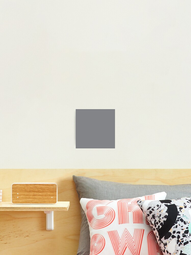 Designer Fall Color Trends 2016 Shark Grey Solid Color Photographic Print By Podartist Redbubble