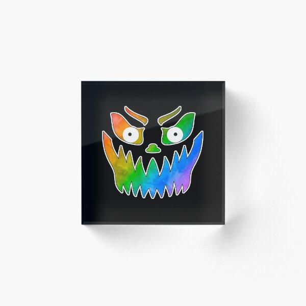 So Fierce! Pride Jack-o-Lantern Acrylic Block
