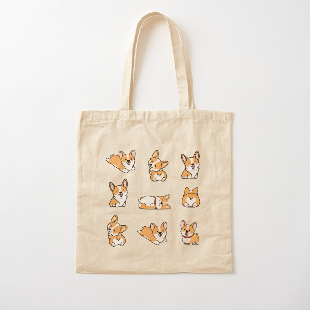 Cute Corgi Kawaii Shoulder Bags For Women/Large Capacity Shopping Bags Perfect For Shopping//Laptop//School Books//Travel//Fitness Storage