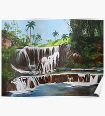 Leaping Waterfall Poster