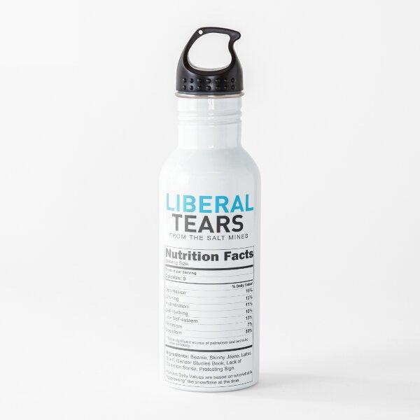 Liberal/Democrat Tears Funny Joke Supplement Facts - Online Store Water Bottle