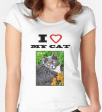 I LOVE MY CAT - Gracie Women's Fitted Scoop T-Shirt
