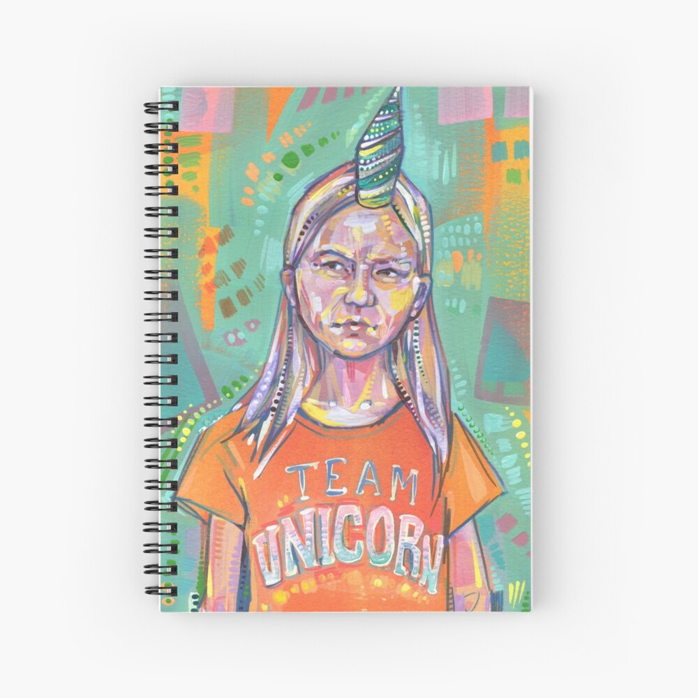 Team Unicorn painting - 2019 Spiral Notebook
