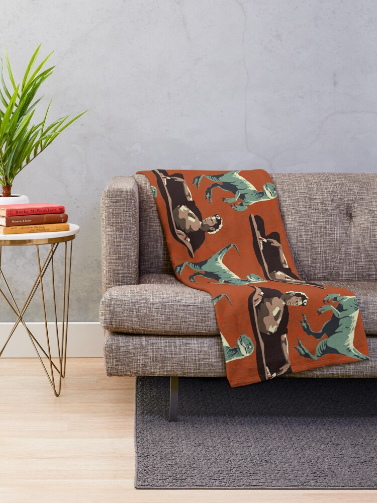 Alternate view of Jurassic Geniuses  Throw Blanket