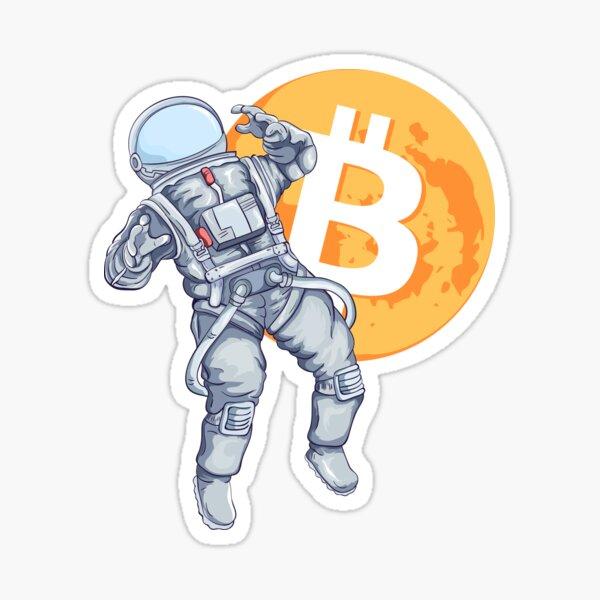 Bitcoin Astronaut BTC Mooning Sticker