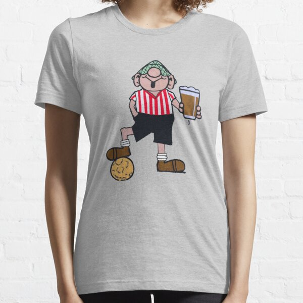 ANDY CAPP RED AND WHITE FOOTBALL SHIRT Essential T-Shirt