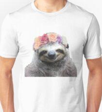 Flower Crown Sloth T-Shirt