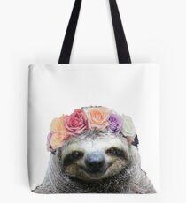 Flower Crown Sloth Tote Bag