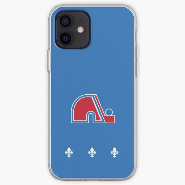 Nordiques Quebec Hockey Team Avalanche Vintage with fleurs de lys iPhone Soft Case