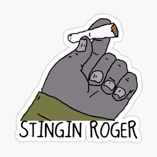 Stinging Roger Sticker