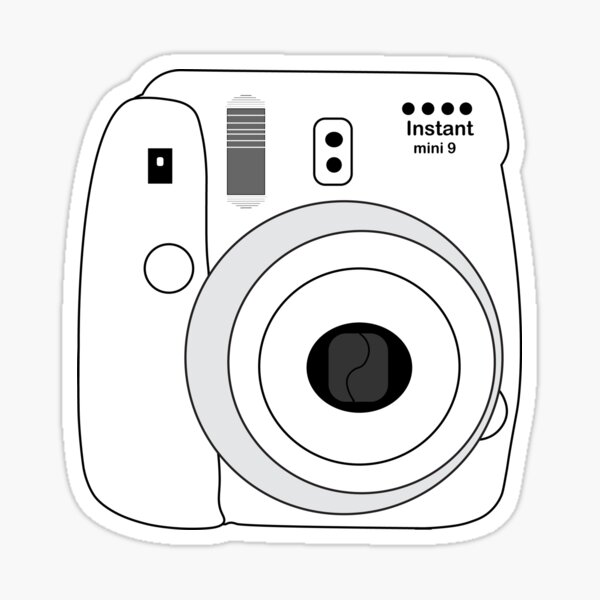 Polaroid blanca Pegatina