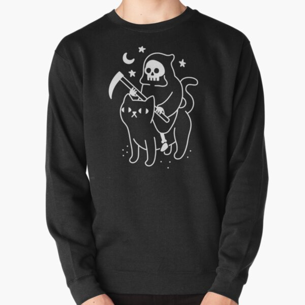 Death Rides A Black Cat Pullover Sweatshirt